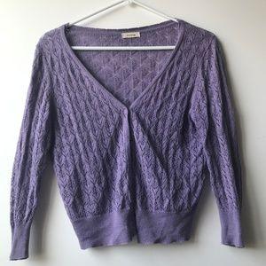Sweaters - relaxed dolman open knit cardigan